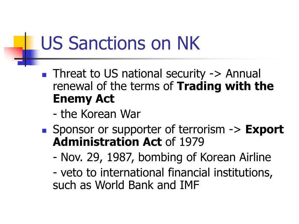 US Sanctions on NK