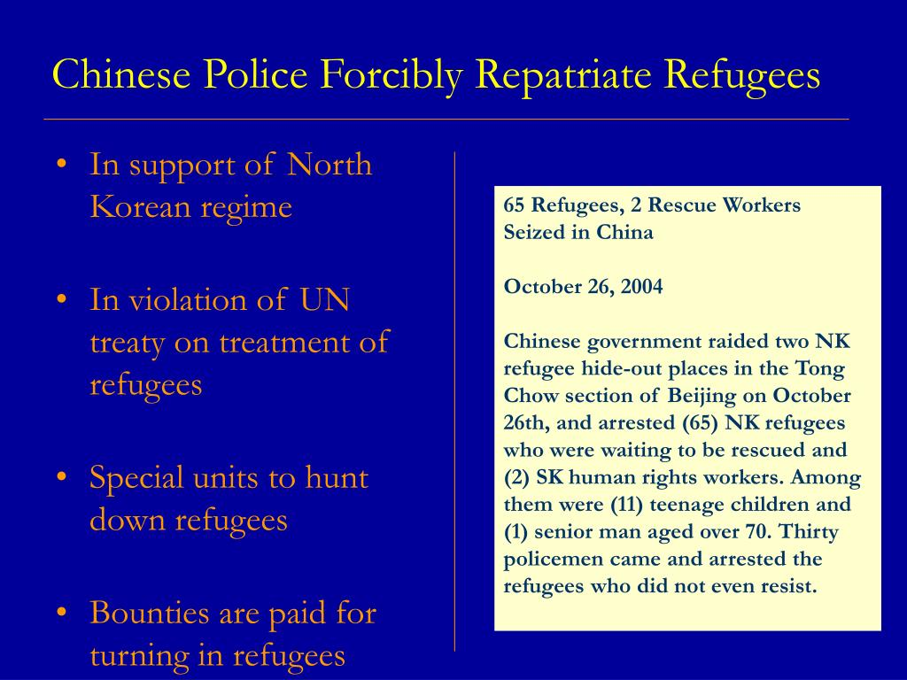 Chinese Police Forcibly Repatriate Refugees