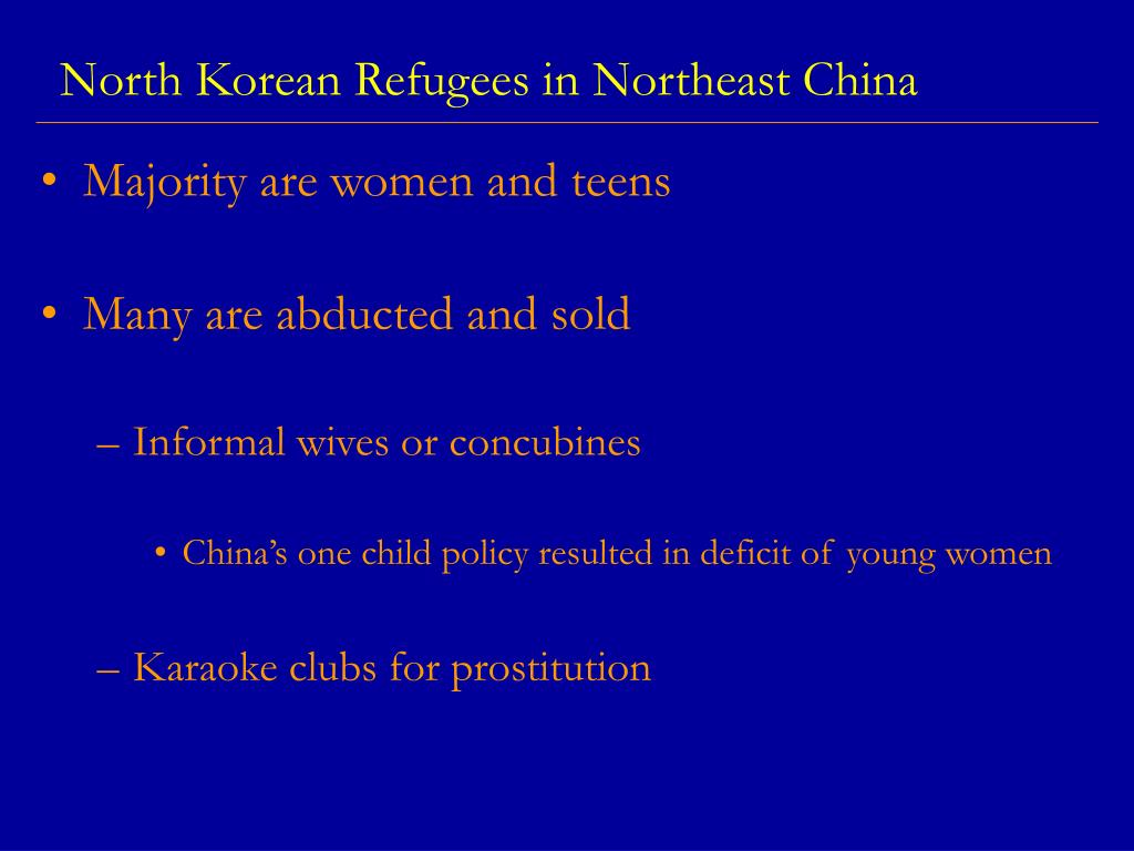 North Korean Refugees in Northeast China