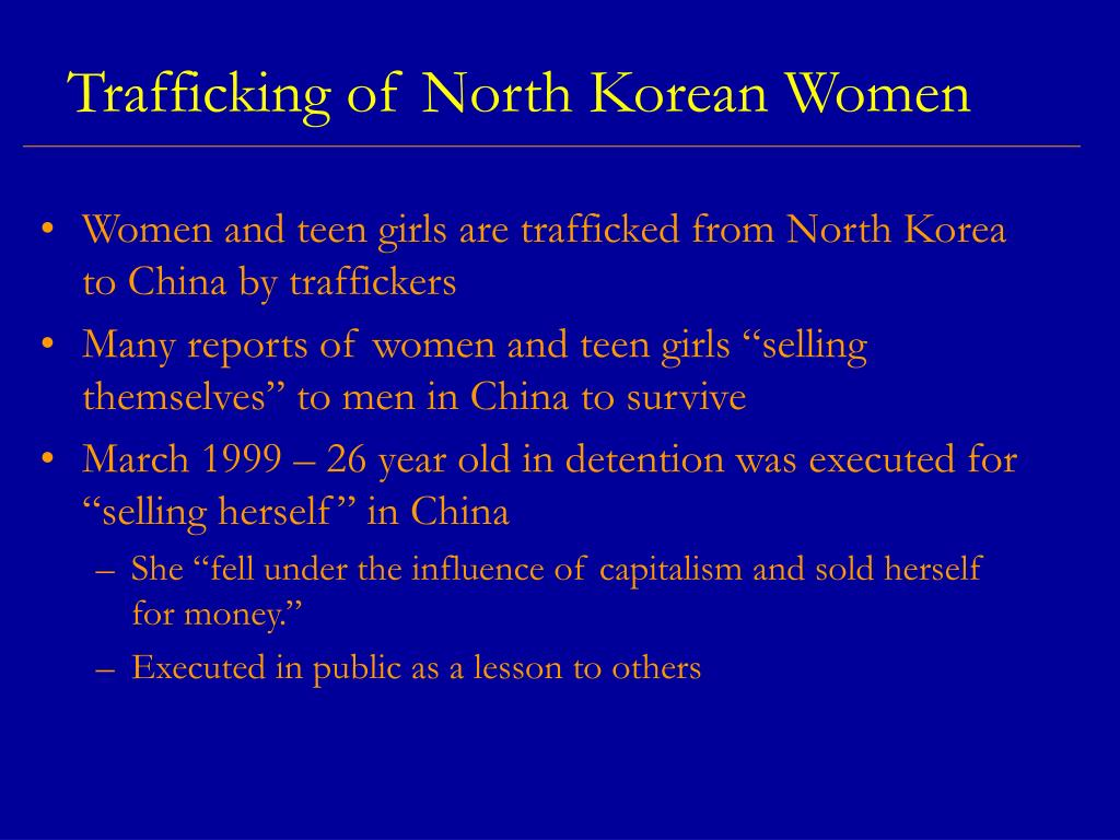 Trafficking of North Korean Women