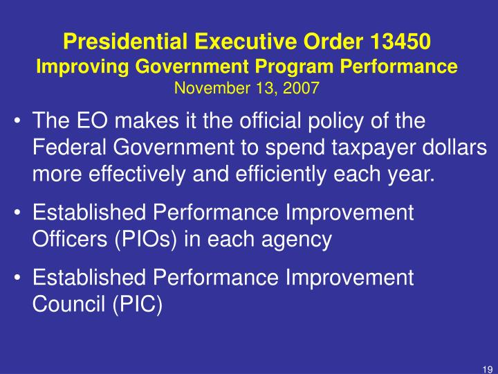 Presidential Executive Order 13450