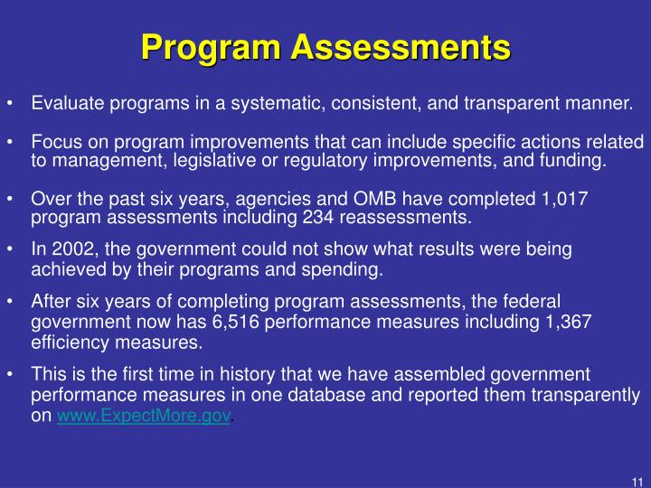 Program Assessments