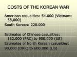 costs of the korean war