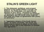 stalin s green light6