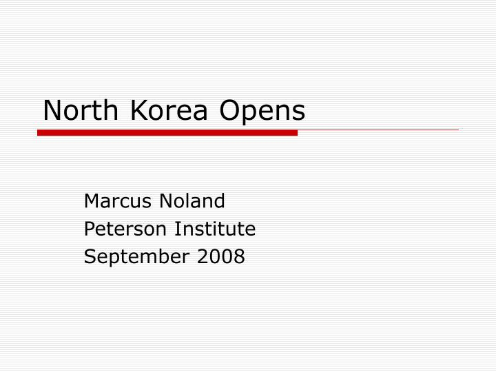 North korea opens