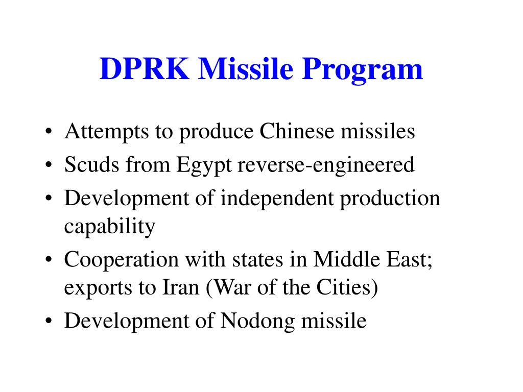 DPRK Missile Program