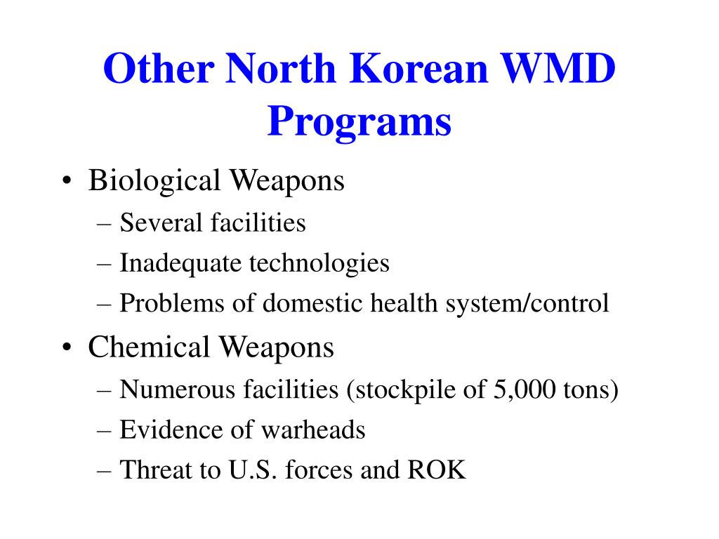 Other North Korean WMD Programs