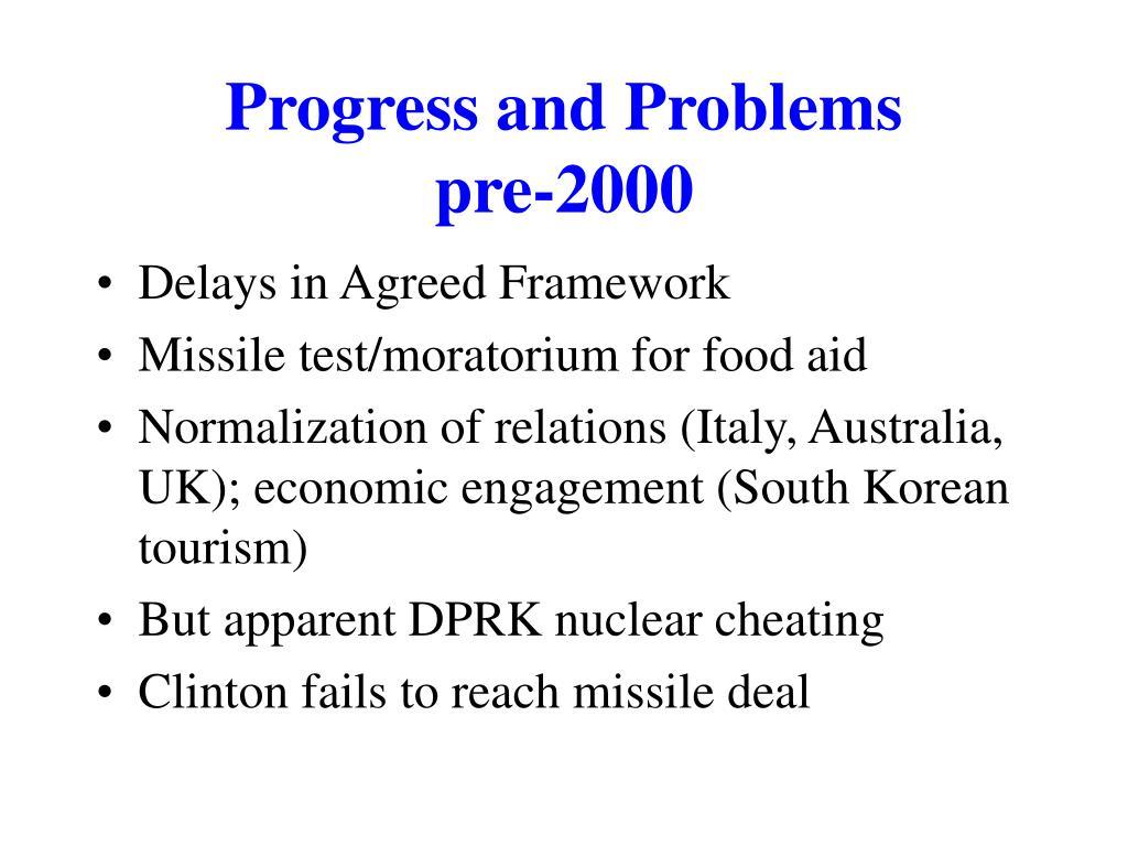 Progress and Problems