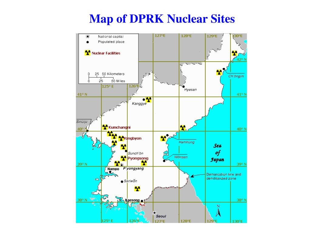 Map of DPRK Nuclear Sites