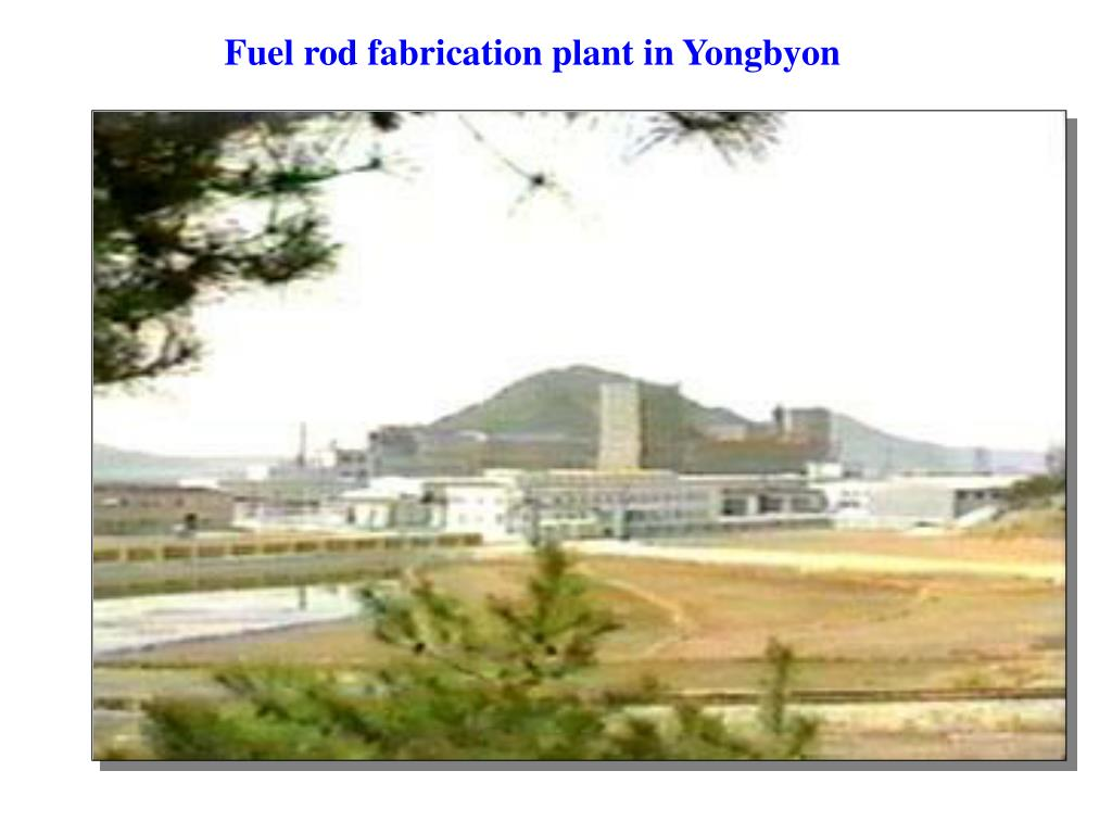 Fuel rod fabrication plant in Yongbyon