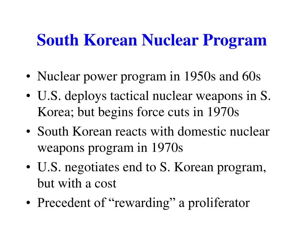 South Korean Nuclear Program