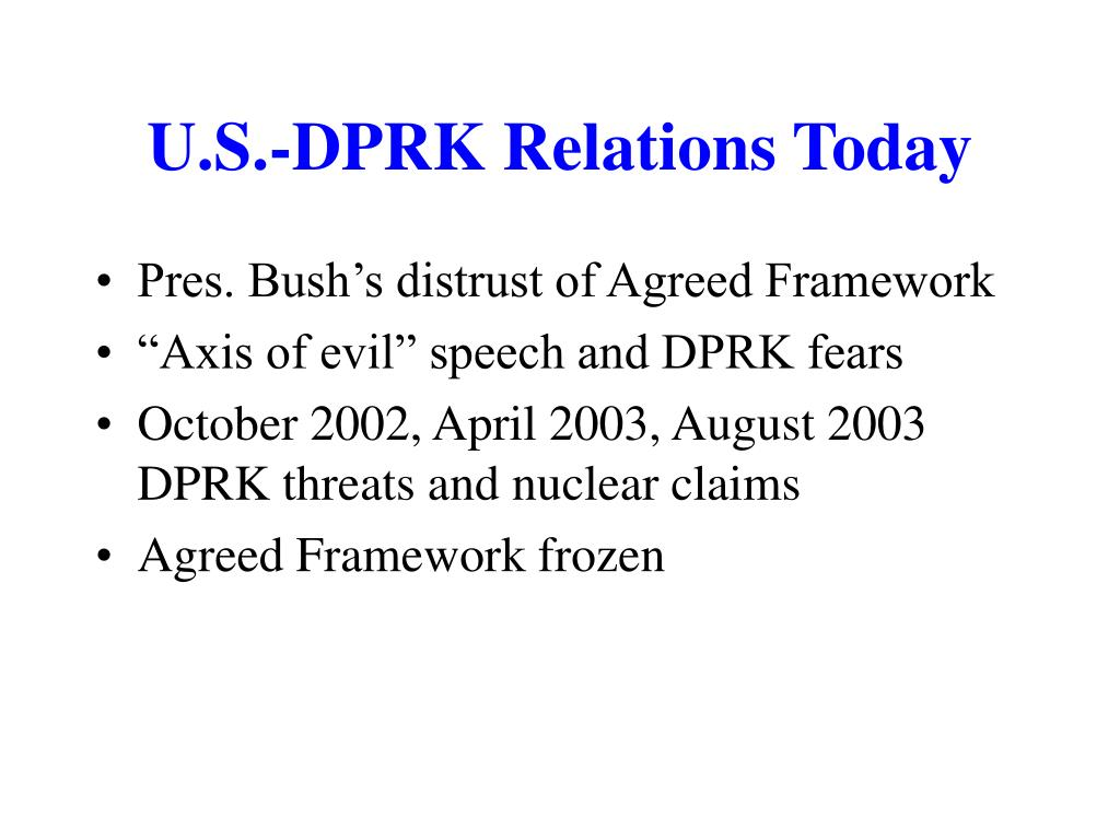 U.S.-DPRK Relations Today