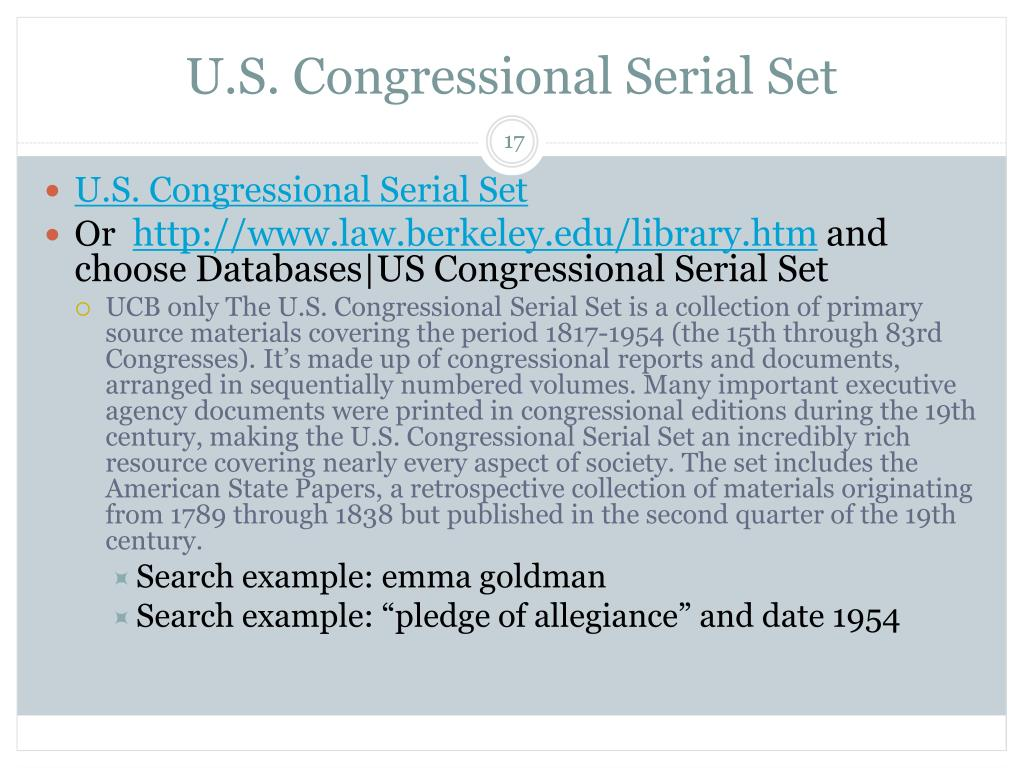 U.S. Congressional Serial Set