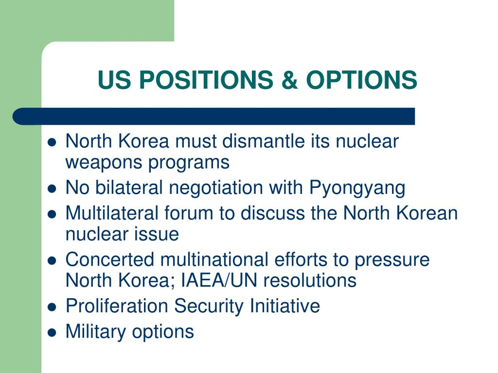 US POSITIONS & OPTIONS
