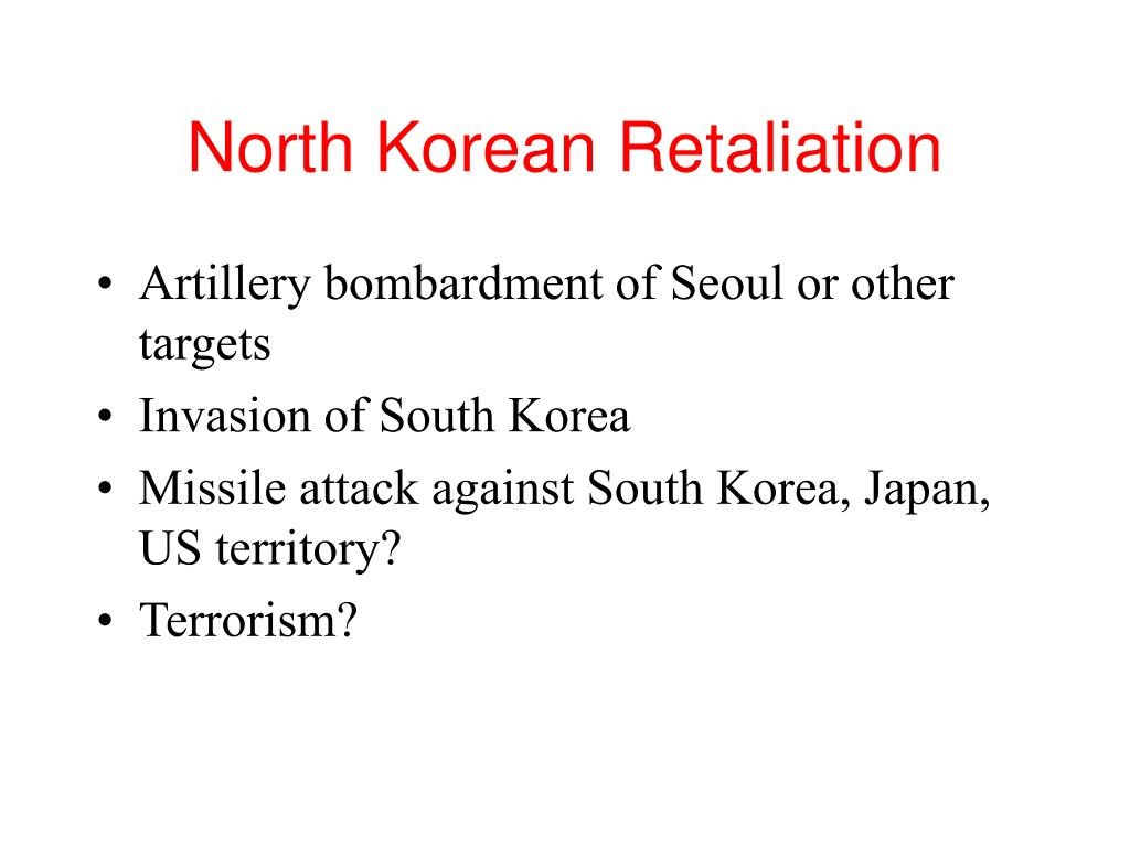 North Korean Retaliation
