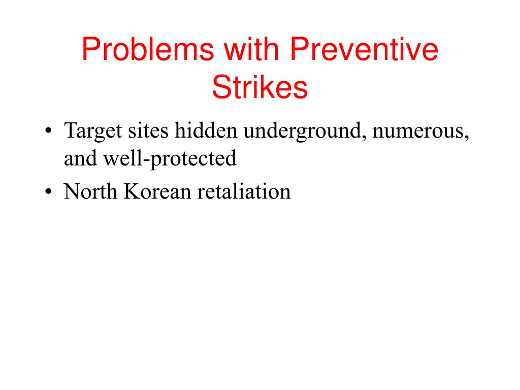 Problems with Preventive Strikes