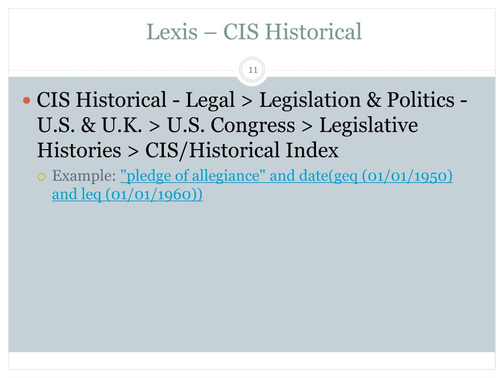 Lexis – CIS Historical