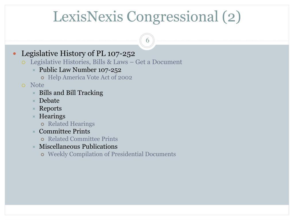 LexisNexis Congressional (2)