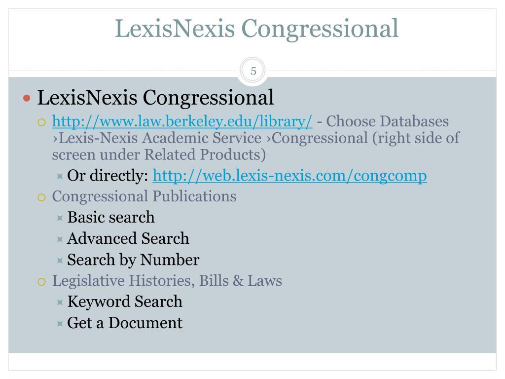 LexisNexis Congressional