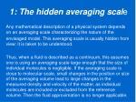 1 the hidden averaging scal e