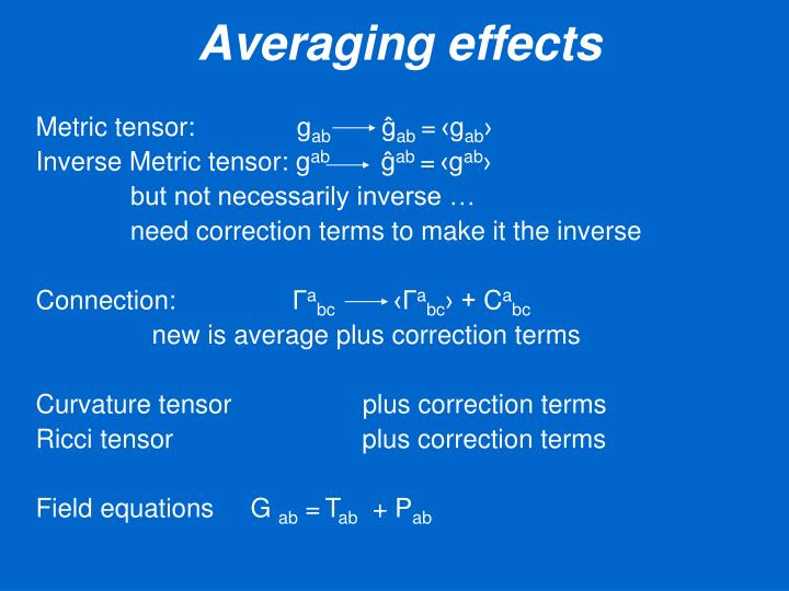 Averaging effects