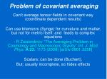 problem of covariant averaging1