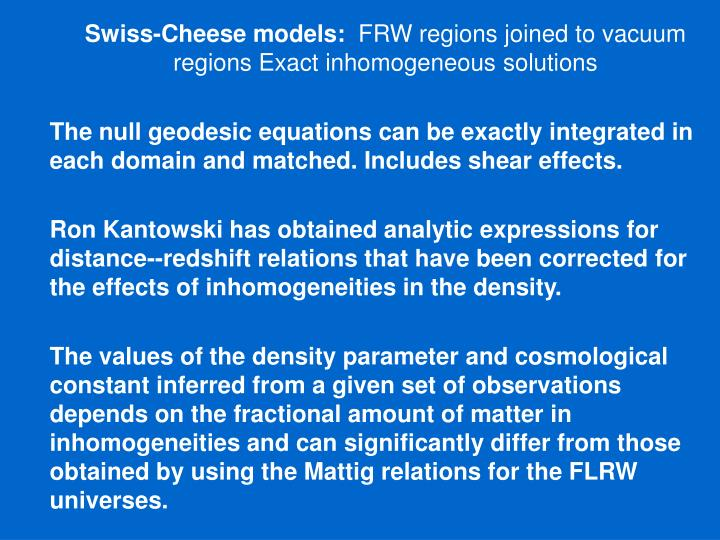 Swiss-Cheese models: