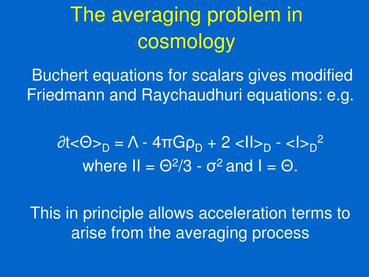 The averaging problem in cosmology
