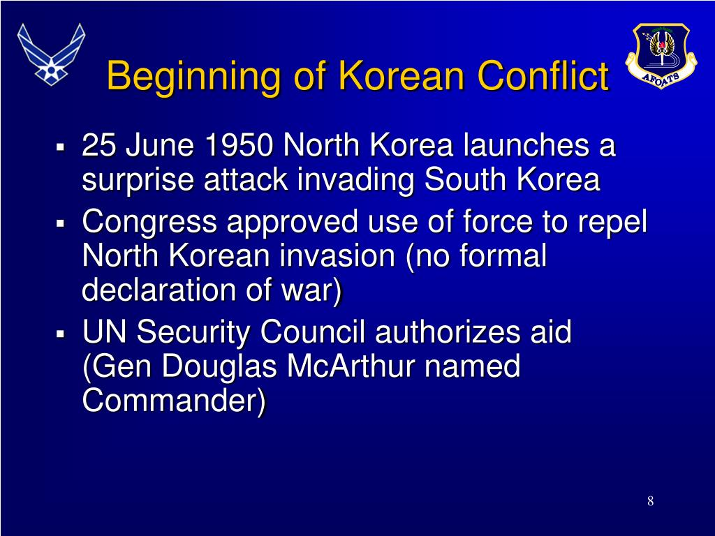Beginning of Korean Conflict