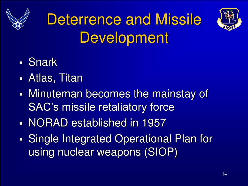 Deterrence and Missile Development