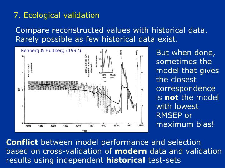 7. Ecological validation