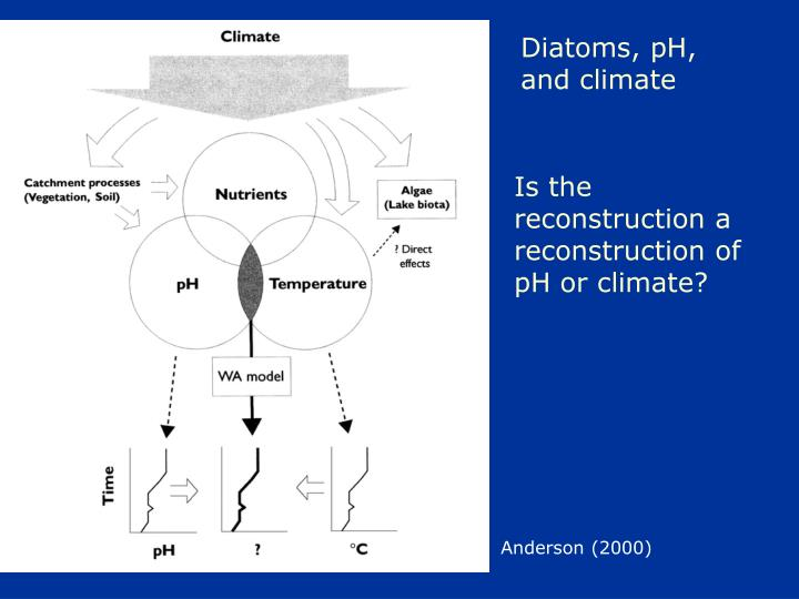 Diatoms, pH, and climate