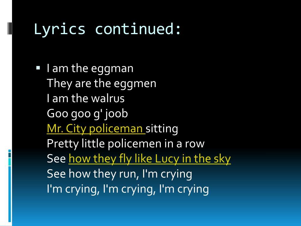 Lyrics continued: