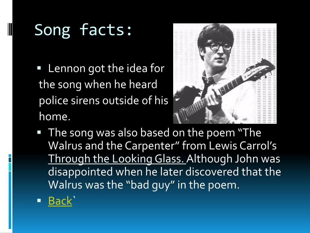Song facts: