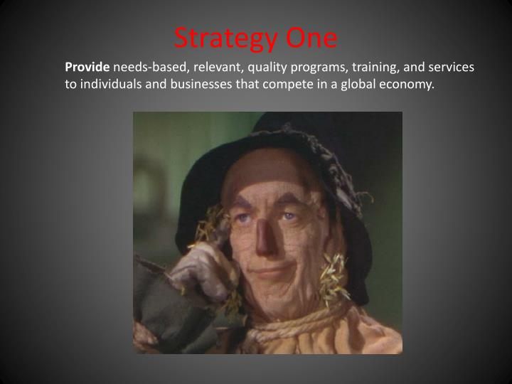 Strategy One