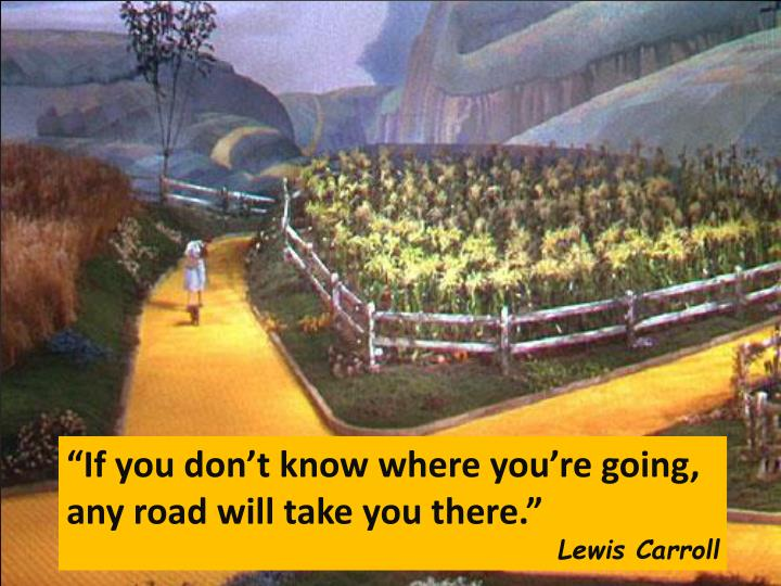 """""""If you don't know where you're going,"""