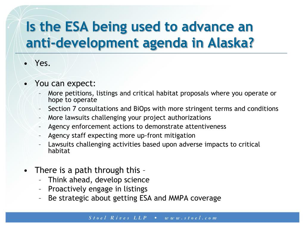 Is the ESA being used to advance an anti-development agenda in Alaska?