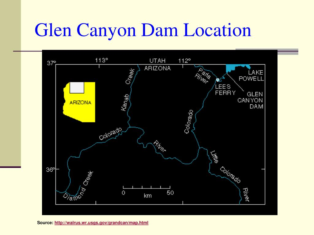 Glen Canyon Dam Location