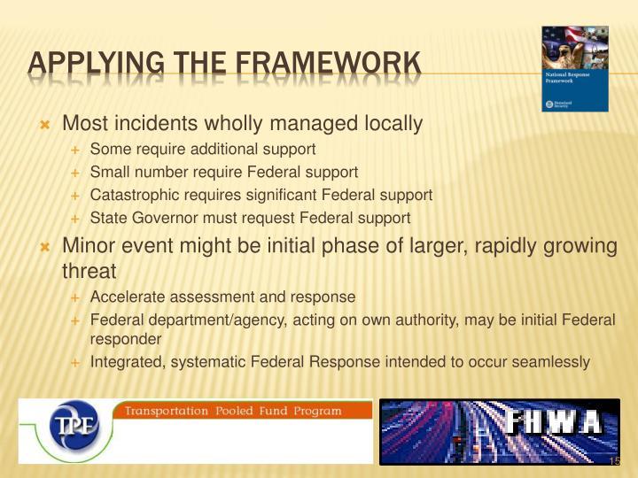 Applying the framework