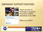 emergency support functions