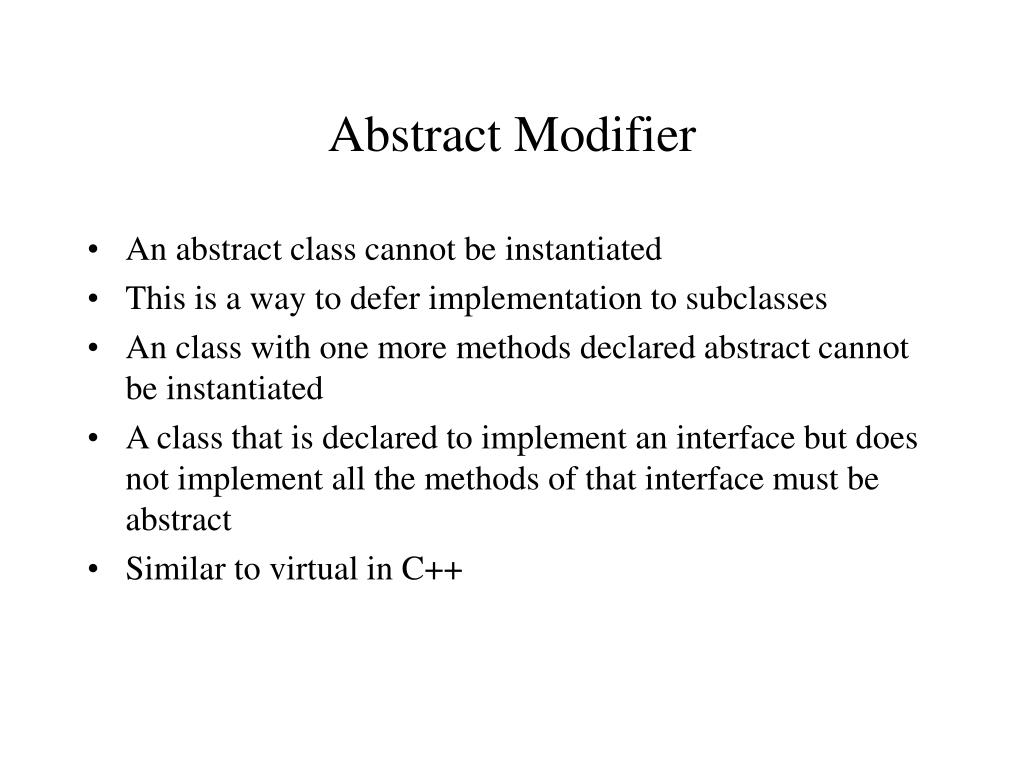 Abstract Modifier