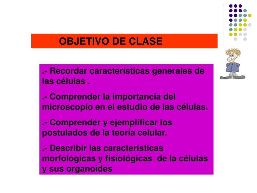 OBJETIVO DE CLASE