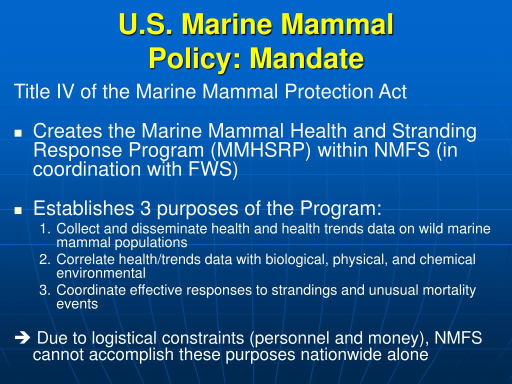 Title IV of the Marine Mammal Protection Act