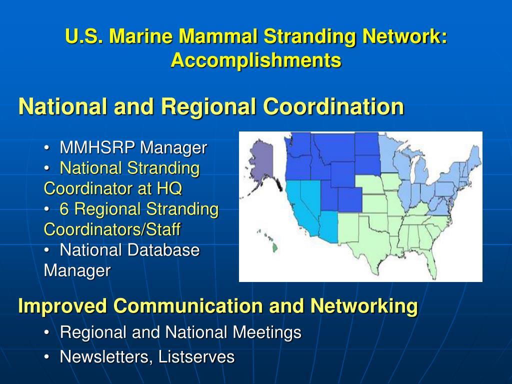 U.S. Marine Mammal Stranding Network: