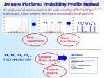 de novo platform probability profile method