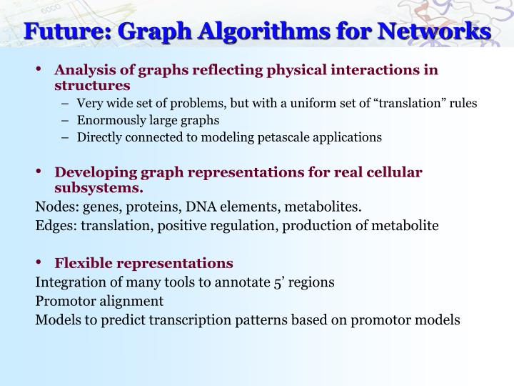 Future: Graph Algorithms for Networks