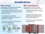 scientific drivers
