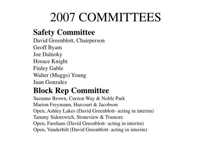 2007 COMMITTEES