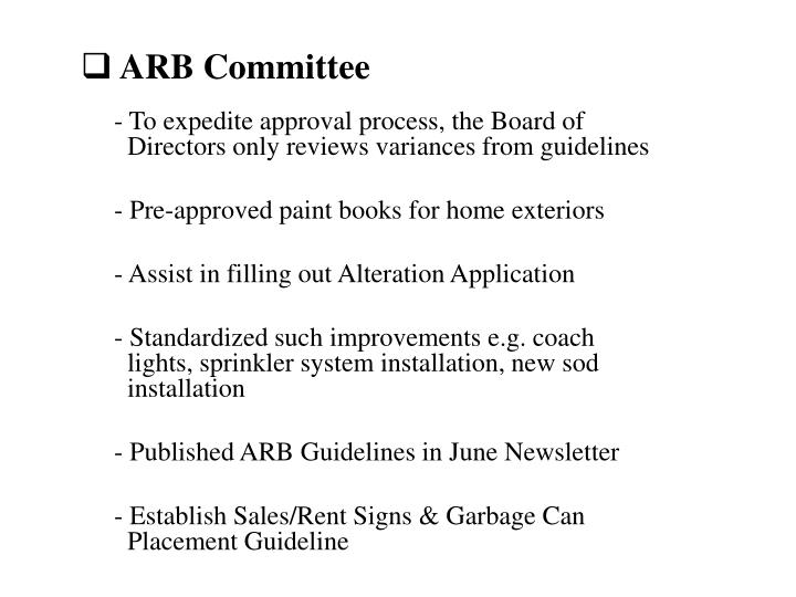 ARB Committee