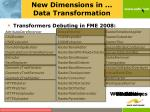 new dimensions in data transformation